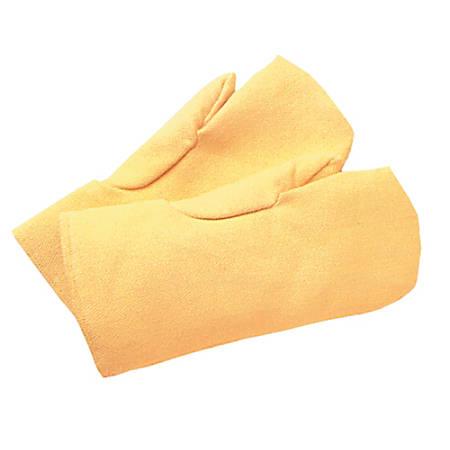 High Heat Mittens, Kevlar/Wool, Yellow, Large