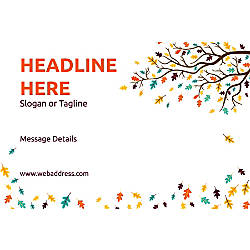 Custom Poster Branch With Leaves Horizontal
