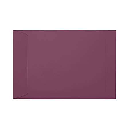 """LUX Open-End Envelopes With Moisture Closure, #6 1/2, 6"""" x 9"""", Vintage Plum, Pack Of 500"""