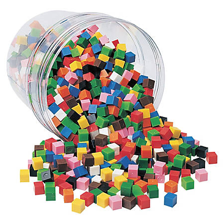 Learning Resources Centimeter Cubes, 1 Cm, Grades 1-9, Pack Of 1,000