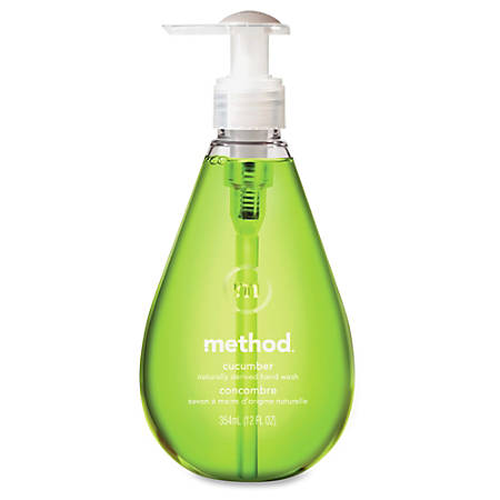 Method Cucumber Gel Hand Wash - Cucumber Scent - 12 fl oz (354.9 mL) - Pump Bottle Dispenser - Hand - Green - Non-toxic - 6 / Carton