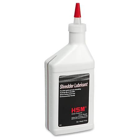 HSM Shredder Lubricant - 16 oz - Clear