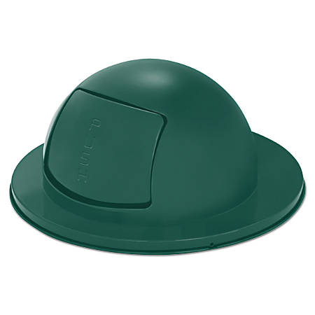 "Rubbermaid® Commercial Steel Dome-Top Trash Can Lid, 12"" x 24 1/2"", Green"