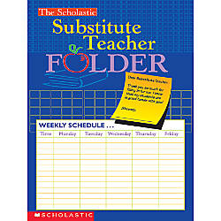 Scholastic Substitute Teacher Folder