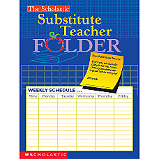 Scholastic Substitute Teacher Folder