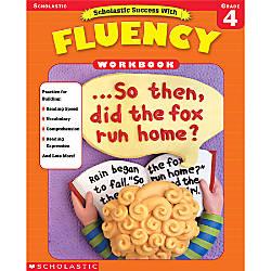 Scholastic Fluency Workbooks Grade 4