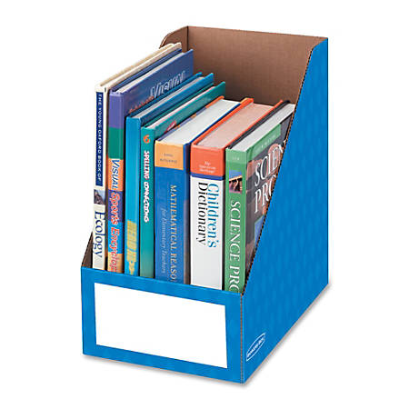 "Bankers Box® Magazine Holder, 8""H x 11 3/4""W x 12 3/4""D, Blue, Pack Of 3"