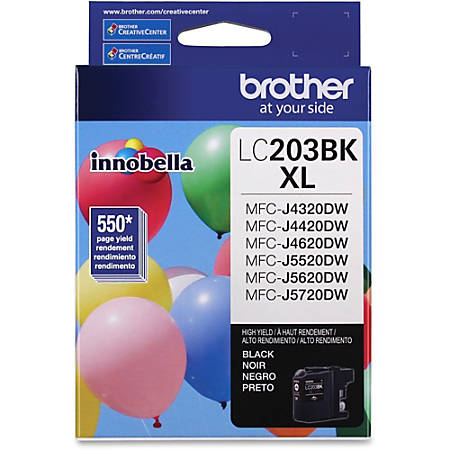 Brother LC203BK XL - High Yield - black - original - ink cartridge - for Brother MFC-J460, J4620, J485, J5620, J5720, J880, J885; Business Smart MFC-J4420, J4620