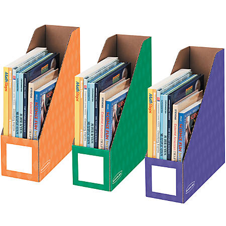 """Bankers Box® Magazine Holders, 11""""H x 12 1/4""""W x 4""""D, Assorted Colors, Pack Of 3"""