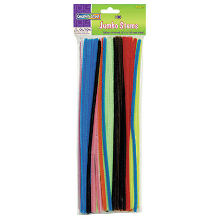 chenille kraft jumbo pipe cleaners assorted pack of 100 by office