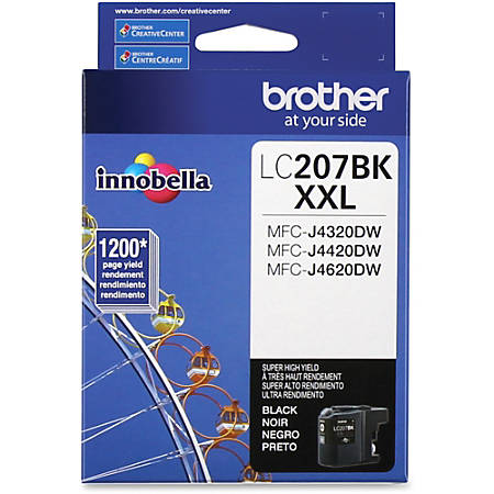 Brother Genuine LC207BK Super High Yield Black Ink Cartridge - Inkjet - Super High Yield - 1200 Pages - Black - 1 Each
