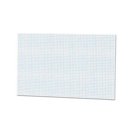 """Ampad Tabloid - size Quadrille Pad - Tabloid - 50 Sheets - Both Side Ruling Surface - 15 lb Basis Weight - 11"""" x 17"""" - White Paper - Chipboard Backing, Smudge Resistant - 50 / Pad"""