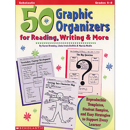Scholastic 50 Graphics Organizers For Reading, Writing & More