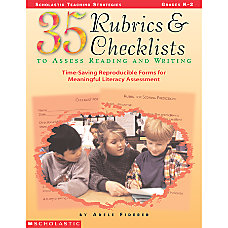 Scholastic 35 Rubrics Checklists To Assess