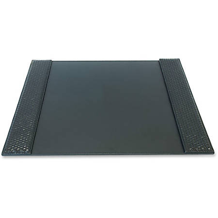 "Artistic Woven Desk Pad - Rectangle - 19"" Width x 24"" Depth - Polyurethane - Black"