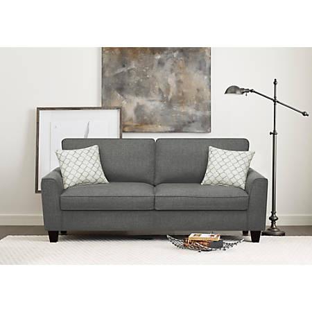 "Serta Astoria Deep-Seating Sofa, 73"", Dark Gray/Espresso"
