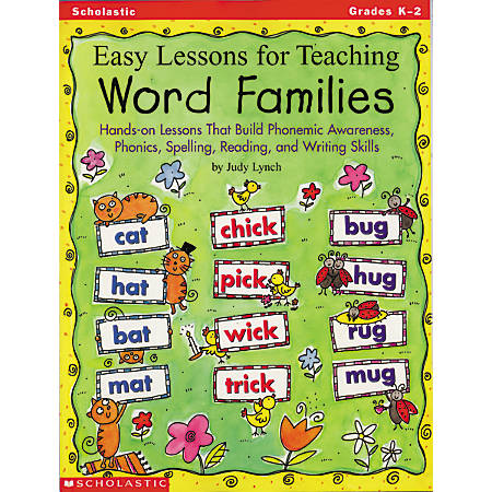 Scholastic Easy Lessons For Teaching Word Families