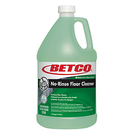 Betco® BioActive Solutions™ No Rinse Floor Cleaner, Fresh Scent, 128 Oz, Light Green, Case of 4