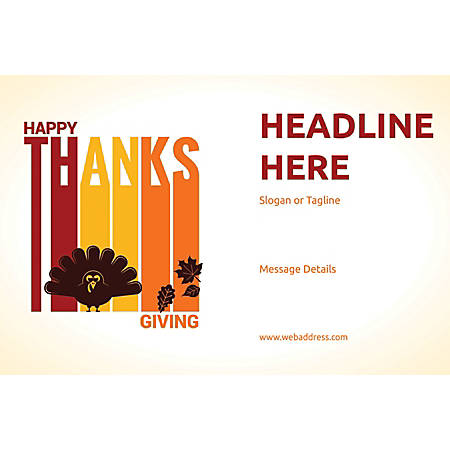 Perforated Window Decal, Happy Thanksgiving