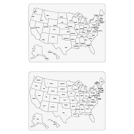"Creativity Street Large USA Map Whiteboard - 23.6"" Width x 18"" Height"