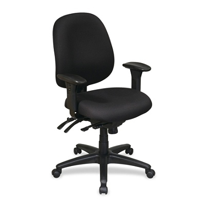 lorell high performance ergonomic multifunction chair black by
