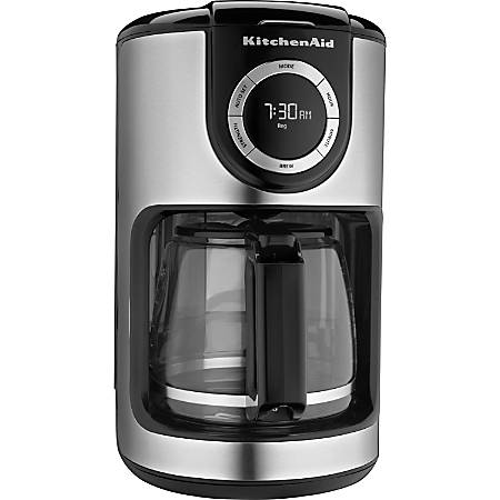 KitchenAid 12 Cup Glass Carafe Coffeemaker by fice Depot & ficeMax #2: vw etz00