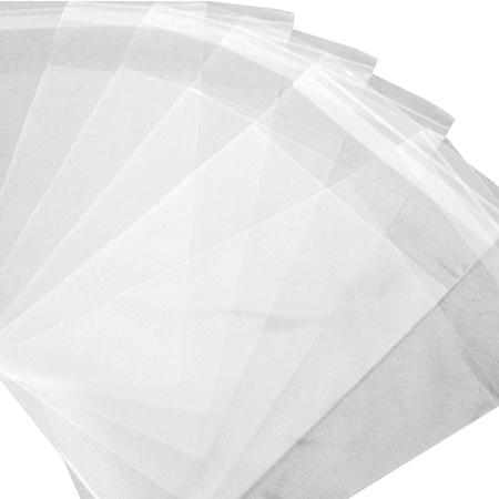 1000 Flush Cup PP Bags 14 X 20 4 Poly Clear View PLASTIC FLAT OPEN TOP