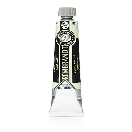 Rembrandt Artist's Oil Colors, 40 mL, Pearl White, 817