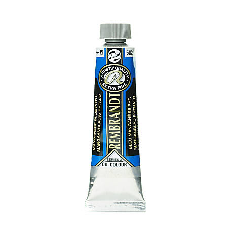 Rembrandt Artist's Oil Colors, 40 mL, Manganese Blue Phthalo, 582