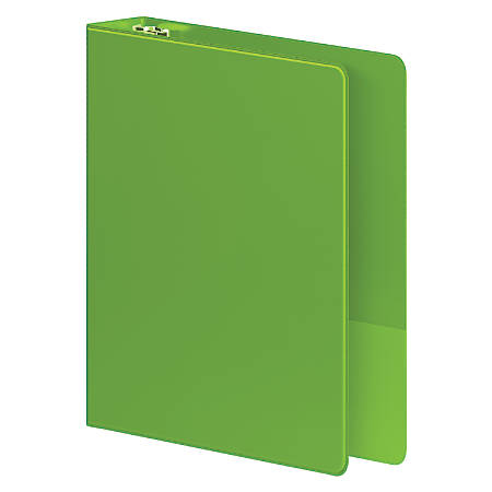 """Wilson Jones® Heavy Duty Binders, With D-Rings And Polypropylene Construction, 1 1/2"""" Rings, 42% Recycled, Chartreuse"""