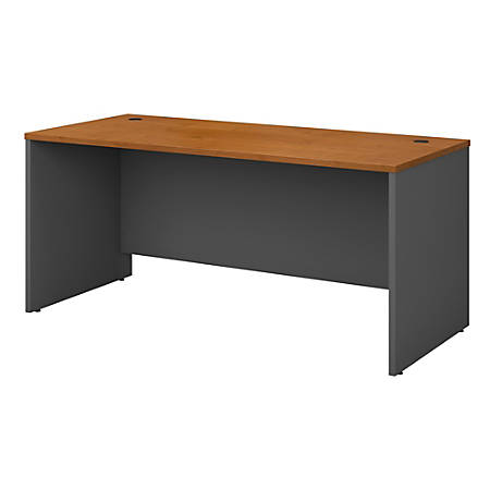 "Bush Business Furniture Components Office Desk 66""W x 30""D, Natural Cherry/Graphite Gray, Premium Installation"