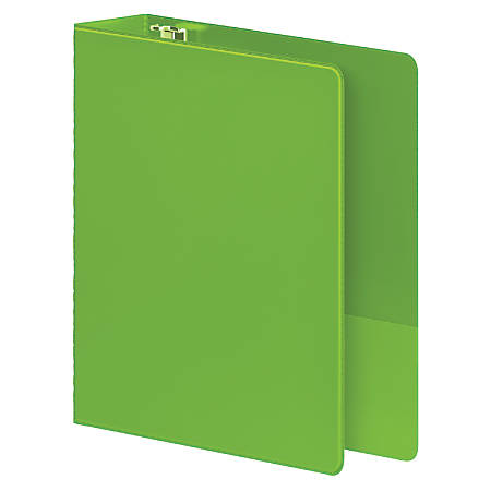 "Wilson Jones® Heavy Duty Binders, With D-Rings And Polypropylene Construction, 2"" Rings, 42% Recycled, Chartreuse"