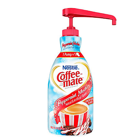 Nestle® Coffee-mate® Liquid Creamer Pump Bottle, Peppermint Mocha, 1.5 L