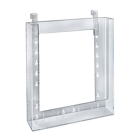 """Azar Displays Styrene Letter-Size Brochure Holders, Hanging, 11 1/4""""H x 9 1/8""""W x 1 1/4""""D, Clear, Pack Of 10"""
