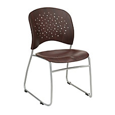 Safco Reve Wood Guest Chair Mahogany