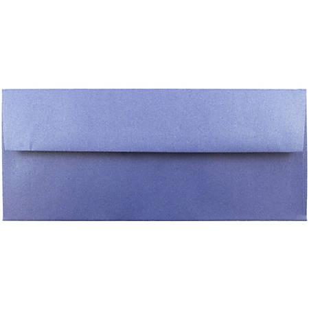 "JAM Paper® Business Booklet Envelopes, #10, 4 1/8"" x 9 1/2"", Sapphire Blue, Pack Of 25"