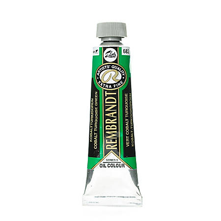 Rembrandt Artist's Oil Colors, 40 mL, Cobalt Turquoise Green, 682