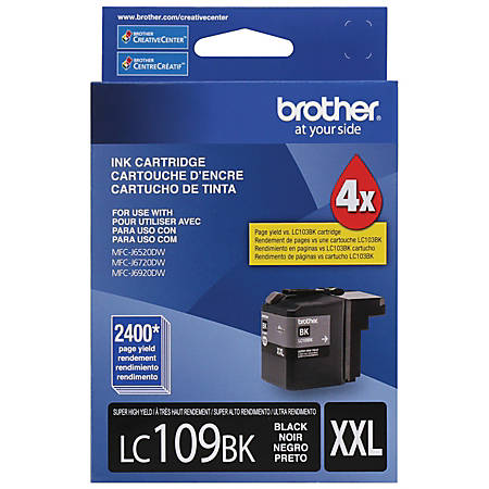 Brother® LC109BK High-Yield Black Ink Cartridge