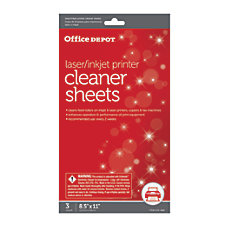 Office Depot Brand OD2537 PrinterCopierFax Cleaning