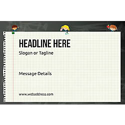 Adhesive Sign Notebook Horizontal