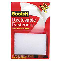 Scotch Recloseable Fasteners White 2 x