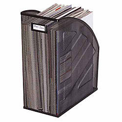 Rolodex Mesh Jumbo Magazine File Black