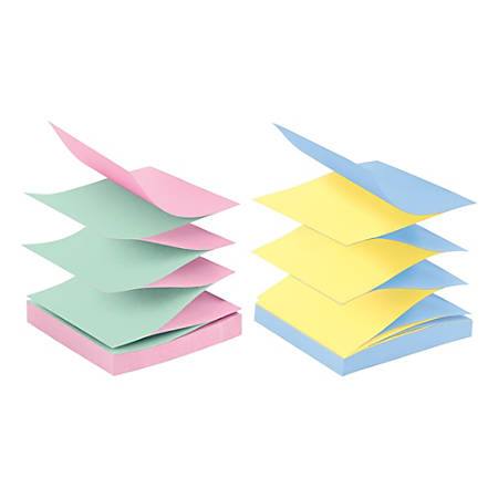 "Post it® Pop up Notes, 3"" x 3"", Marseille, Pack Of 12 Pads"