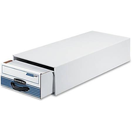 "Fellowes Bankers Box Steel Plus Storage Drawers - Internal Dimensions: 9.25"" Width x 23.25"" Depth x 5.63"" Height - External Dimensions: 10.5"" Width x 25.3"" Depth x 6.5"" Height - Medium Duty - Stackable - Steel, Plastic"