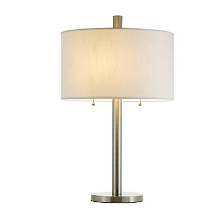 """Adesso® Boulevard Table Lamp, 28""""H, White Shade/Silver Base"""