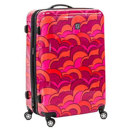 """ful Sunset ABS Expandable Upright Rolling Suitcase, 28""""H x 20 1/2""""W x 11 1/2""""D, Orange"""