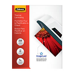Fellowes Thermal Laminating Pouches ImageLast Jam