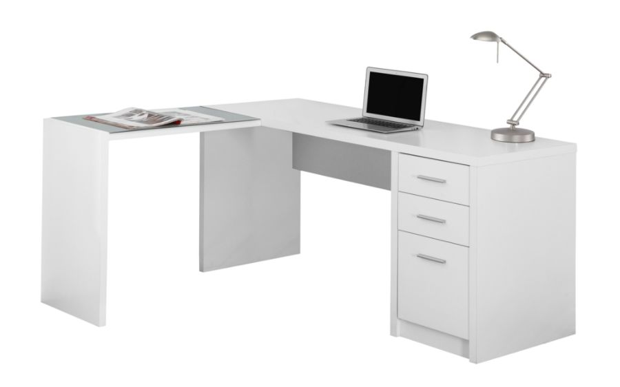 Monarch Specialties Corner Computer Desk With 3 Drawers 60 W X 55 D White  By Office Depot U0026 OfficeMax