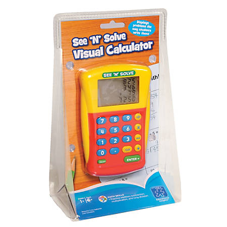 Learning Resources® See 'N' Solve Visual Calculator