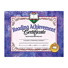 Hayes Publishing Certificates Reading Achievement 8